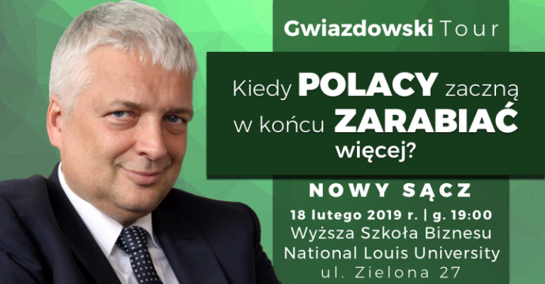 Kiedy Polacy zaczną w końcu zarabiać więcej? Odpowiedź zna Robert Gwiazdowski