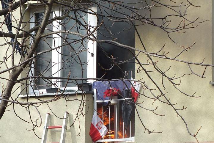 Z ostatniej chwili: pożar mieszkania na Broniewskiego