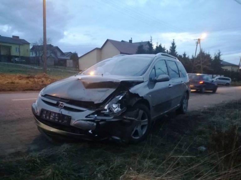 Nowy Sącz: zderzenie Peugeota i Audi