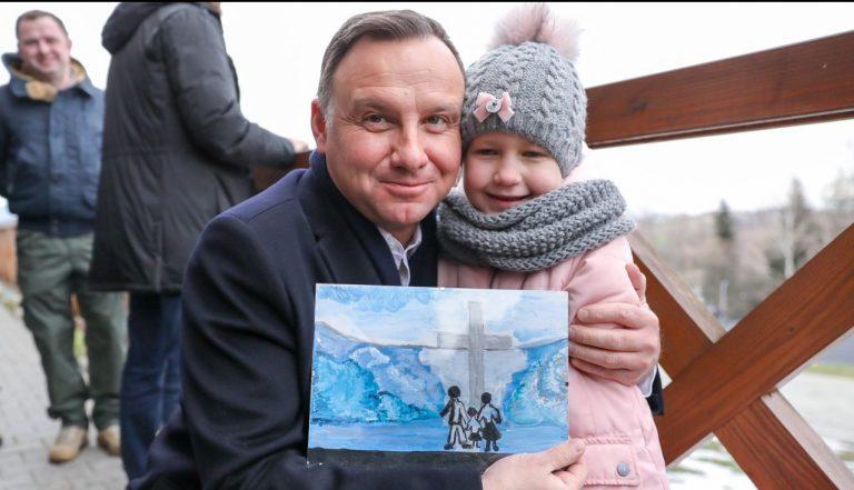 Andrzej Duda w Ptaszkowej: dla mnie to podróż sentymentalna [film, zdjęcia]