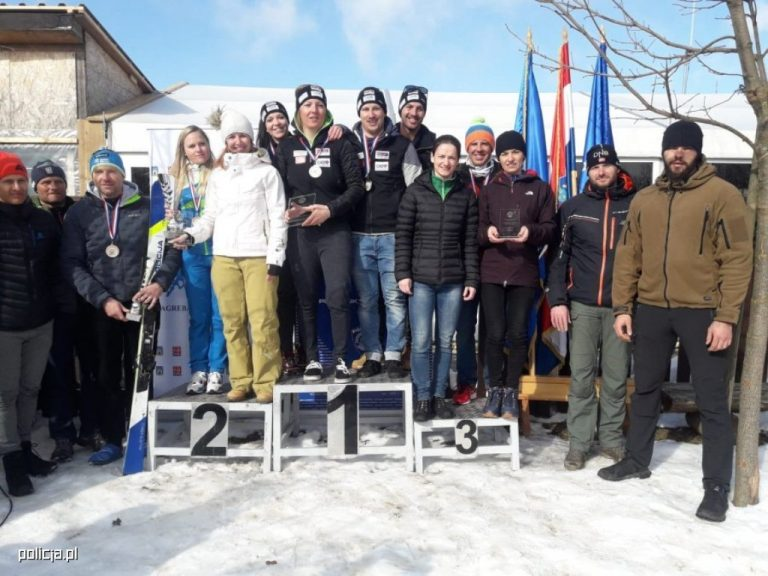 Sądeccy policjanci z narciarskimi sukcesami w Chorwacji