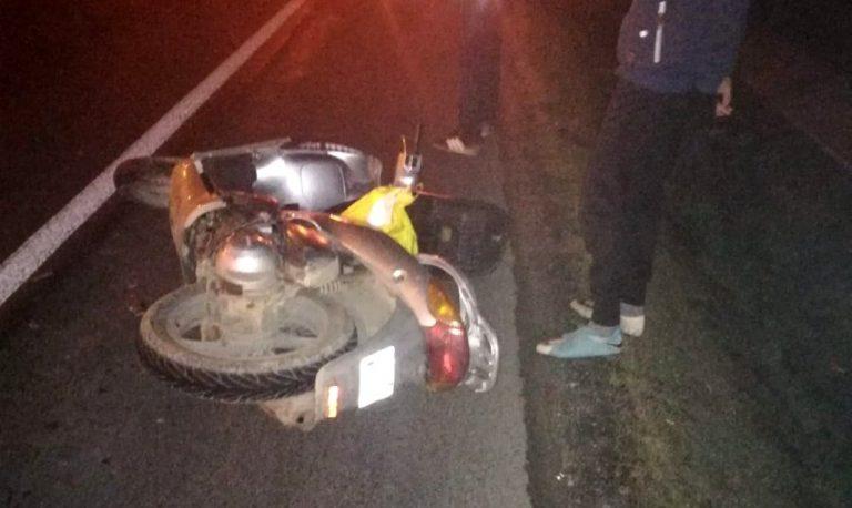 Uderzył skuterem w samochód. Na pomoc ruszyli strażnicy graniczni