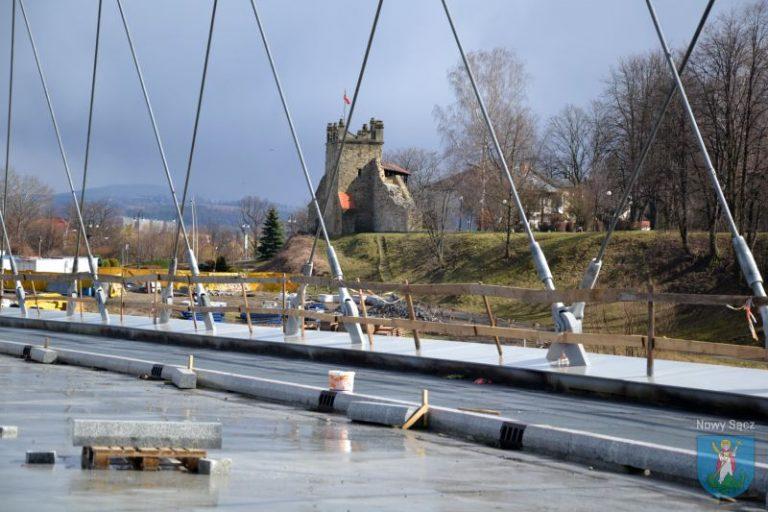 Prace przy budowie mostu przyspieszono [ZDJĘCIA]
