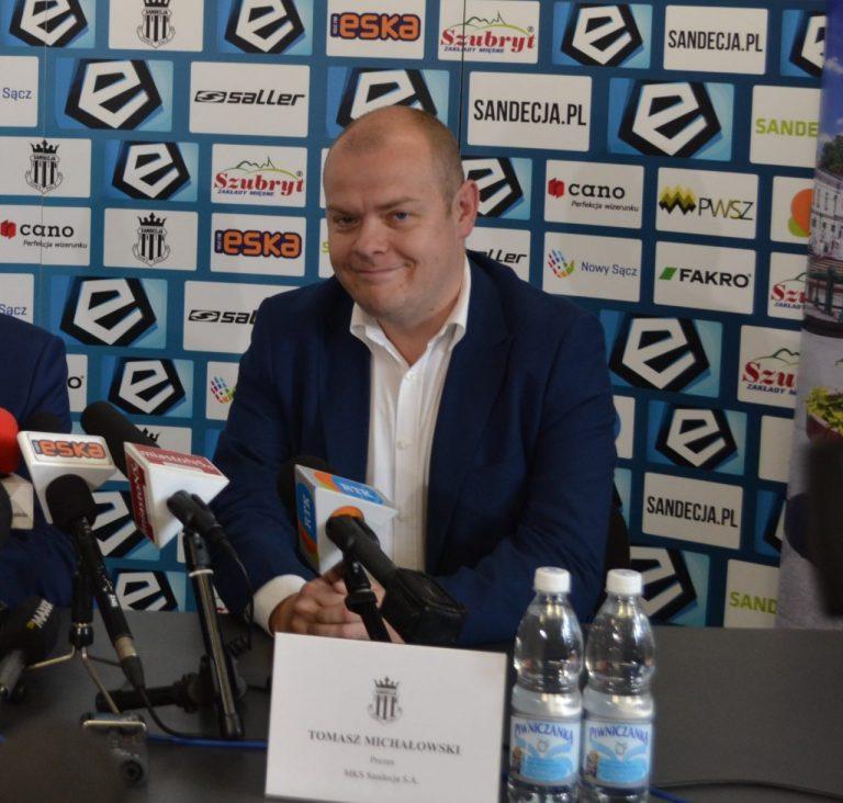 Zmiany w Sandecji! Tomasz Michałowski rezygnuje ze stanowiska prezesa