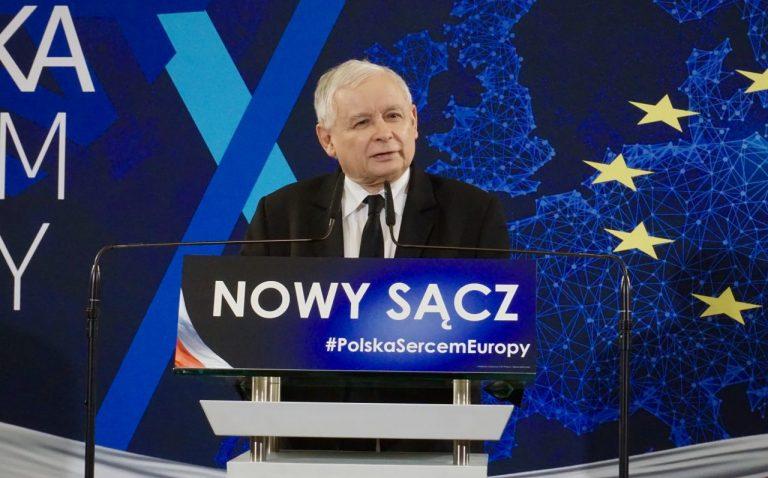 Jarosław Kaczyński, Beata Szydło i profesor Ryszard Legutko odwiedzili Nowy Sącz