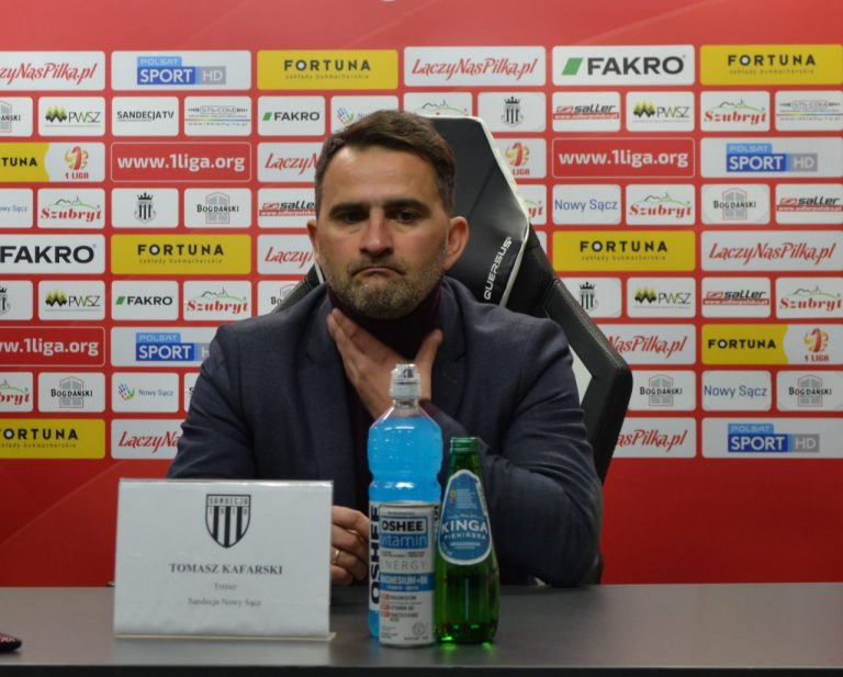 """Trener Sandecji po wygranej: """"Będzie krótko"""""""