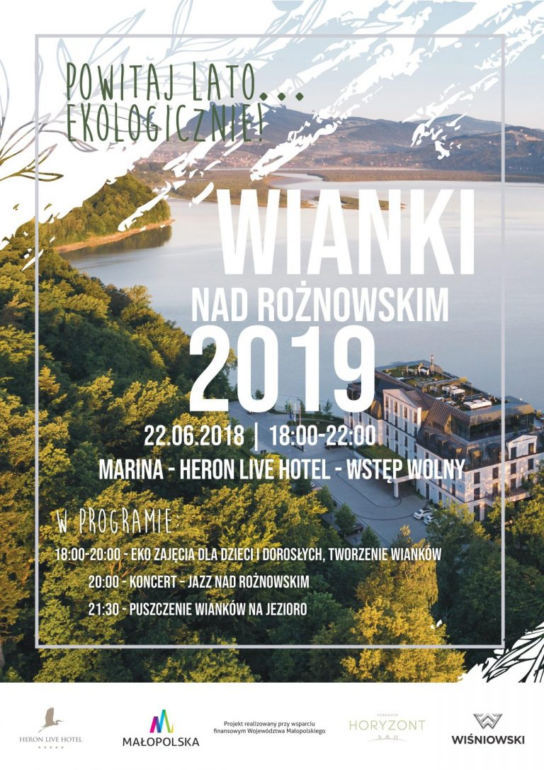 Marina hotelu HERON, 22 czerwca: wianki nad Rożnowskim