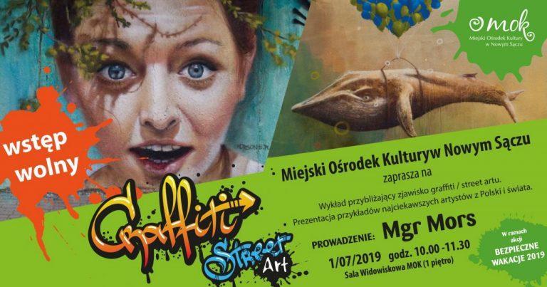 """Nowy Sącz, lipiec: otwarty wykład o """"street art"""" i warsztaty graffiti z Mgr Morsem"""