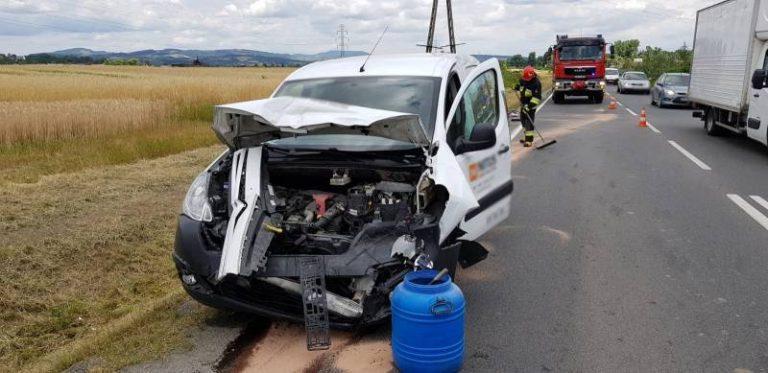 Stary Sącz: zderzenie dwóch samochodów osobowych