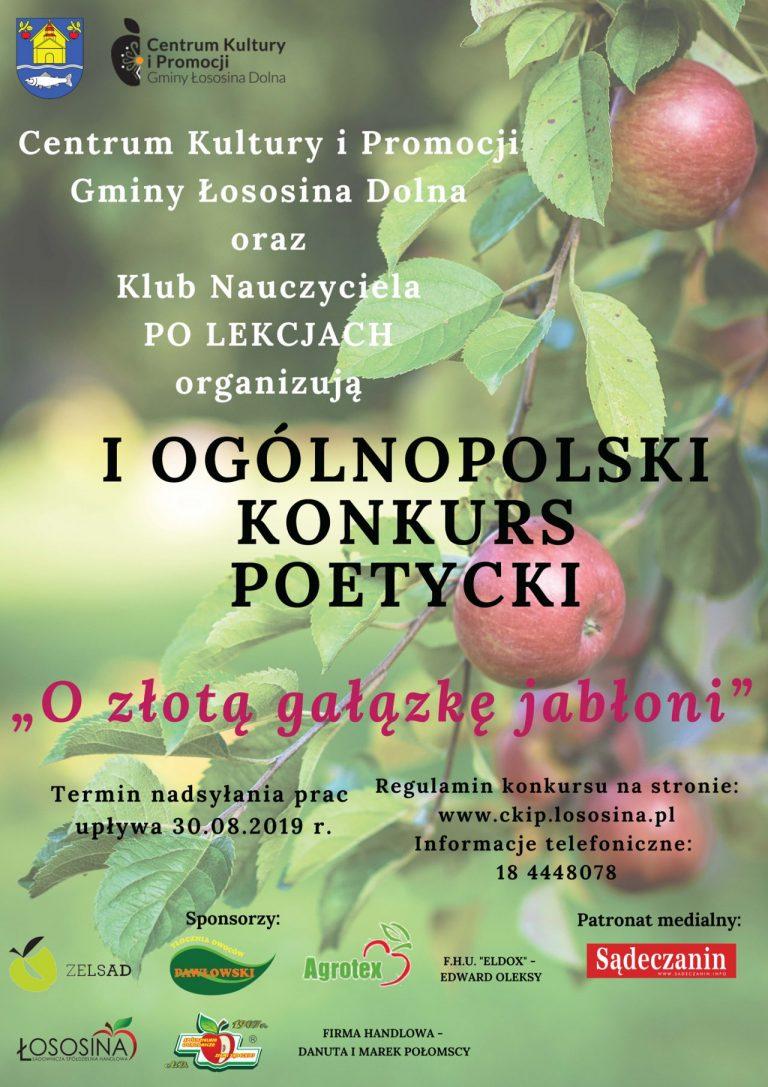 """Łososina Dolna: konkurs poetycki """"o złotą gałązkę jabłoni"""""""