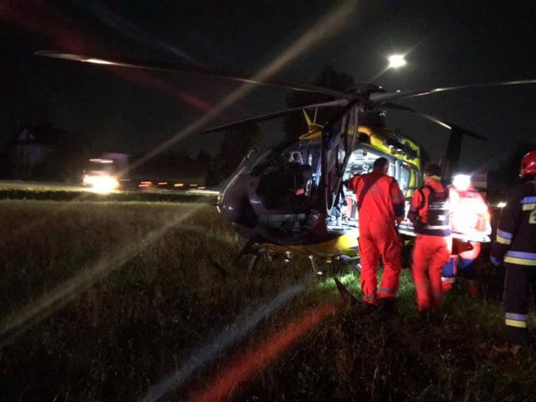 Łososina Dolna: Kobieta zginęła na miejscu, mężczyzna w ciężkim stanie