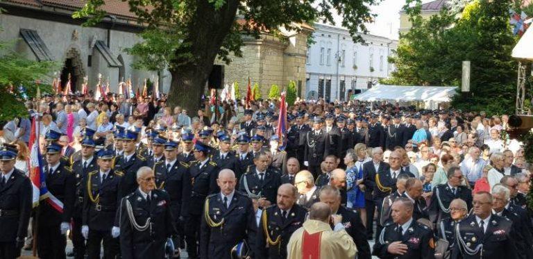 Strażacy z całego regionu po raz XX pielgrzymowali do Bazyliki Św. Małgorzaty [zdjęcia]