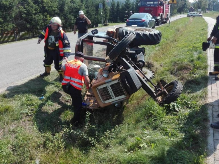 Wysowa-Zdrój: Traktorzysta ranny w wypadku. W akcji LPR
