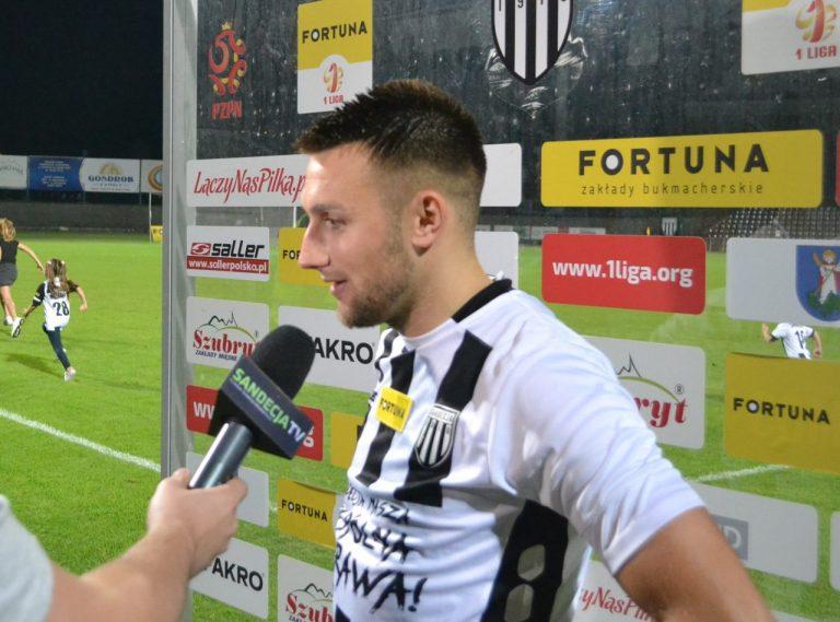 """Mateusz Klichowicz z Sandecji: """"Nie mam prawa do zadowolenia"""""""
