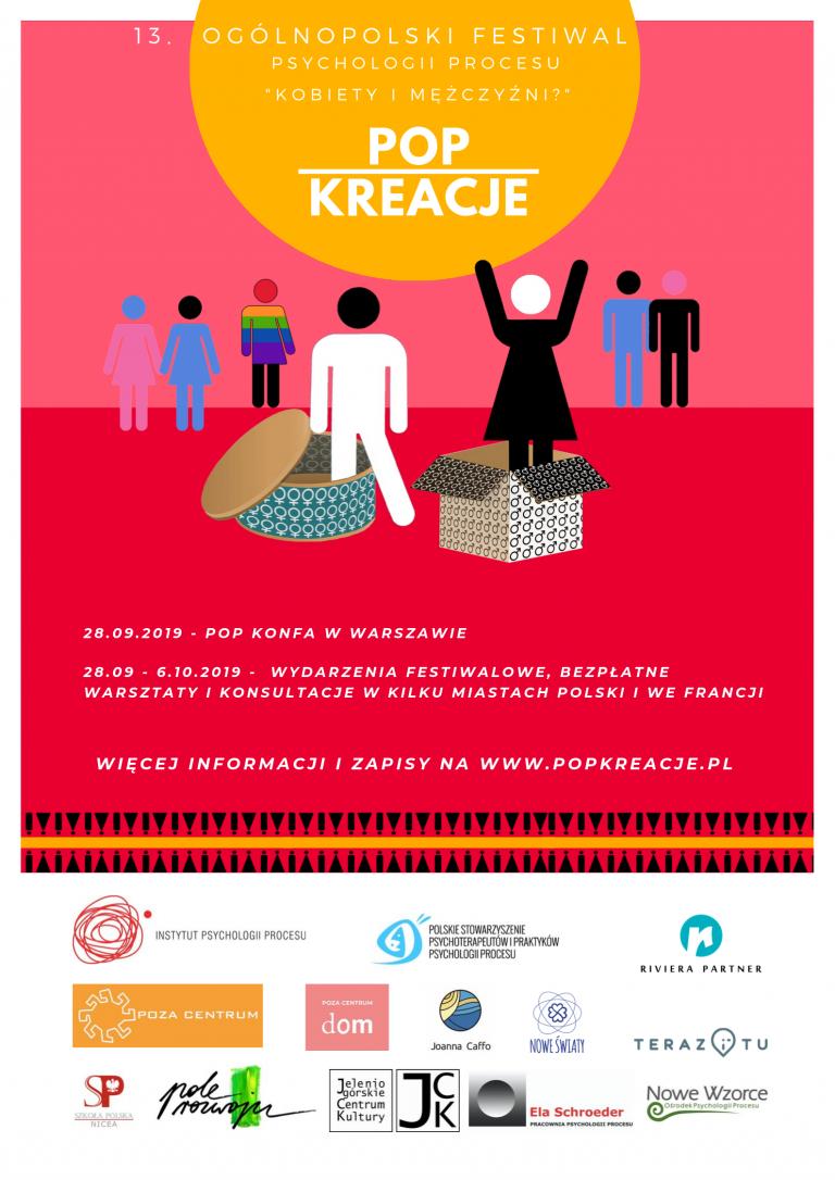 """Nowy Sącz, 1- 6 października: festiwal psychologii procesu """"POP Kreacje"""""""