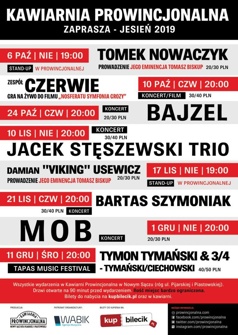 Nowy Sącz, jesień – zima 2019: Prowincjonalna zaprasza!
