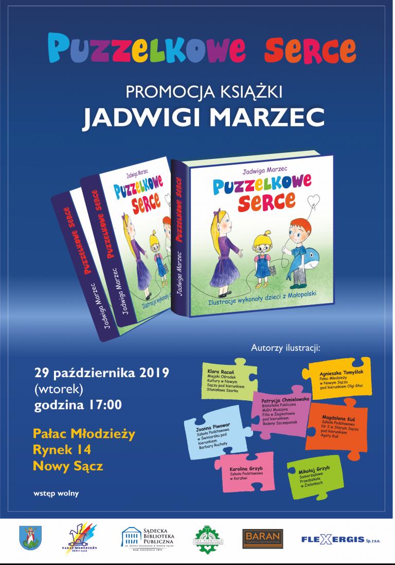 """29 października, Nowy Sącz: promocja książki """"Puzzelkowe serce"""""""