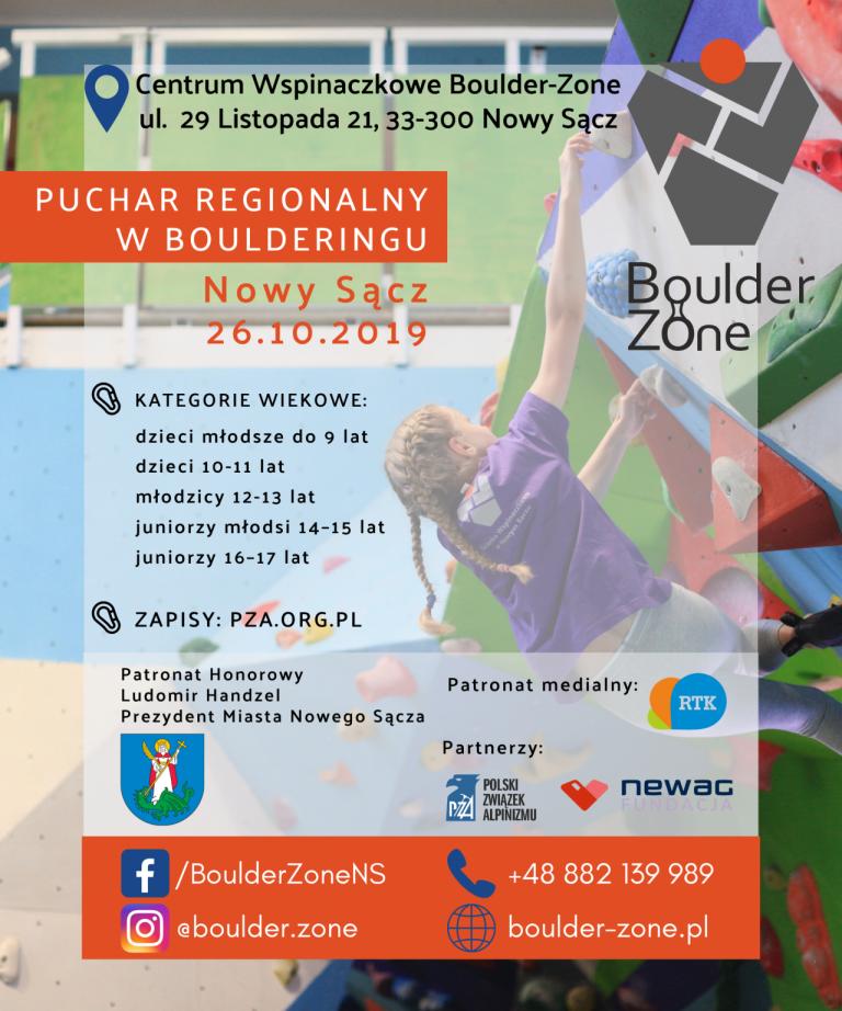 Puchar Regionalny w boulderingu – Nowy Sącz 2019