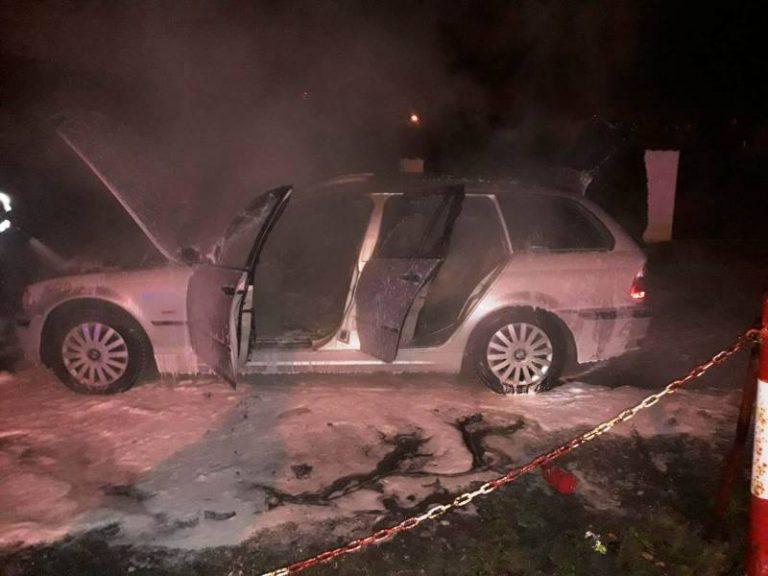 Nowy Sącz: na parkingu przy Lwowskiej płonął samochód