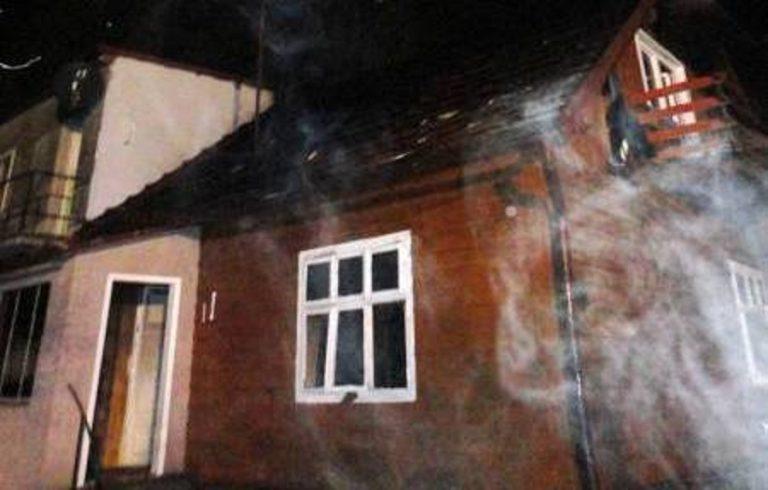 Krynica-Zdrój: Płonął dom, a przed nim walizka z ubraniami