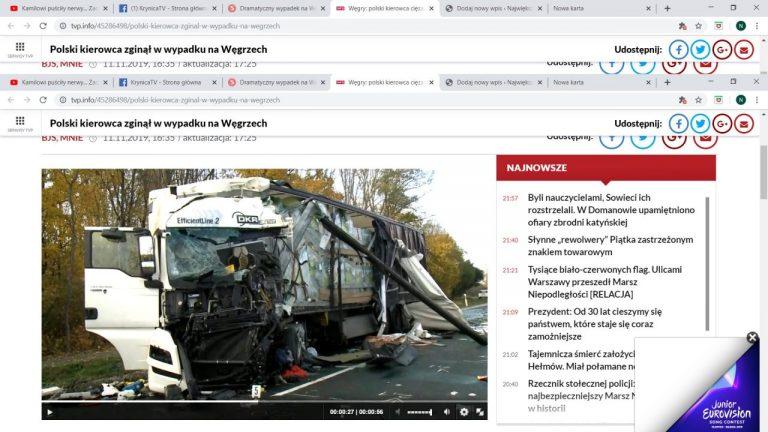 Śmiertelny wypadek na Węgrzech. Nie żyje 36-latek z naszego regionu