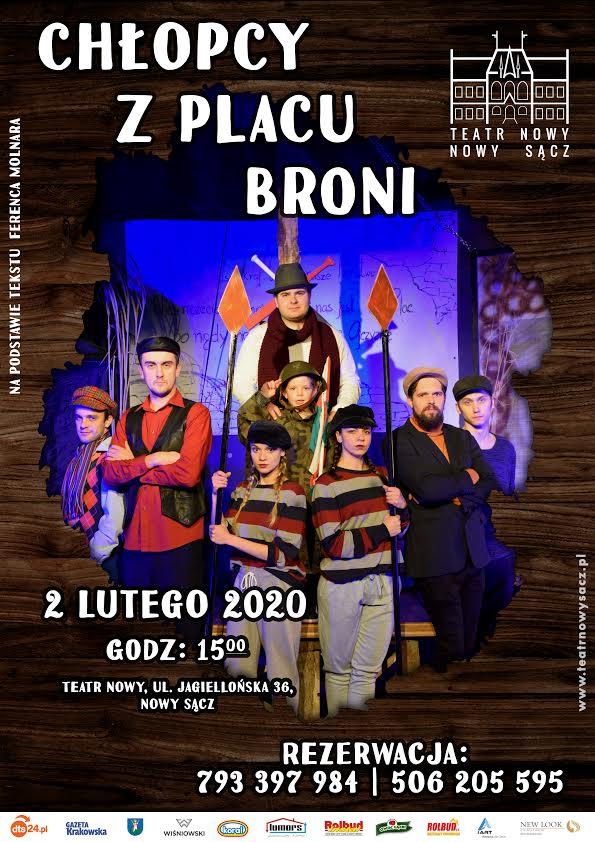 """2 lutego: Teatr Nowy zaprasza na """"Chłopców z Placu Broni"""""""