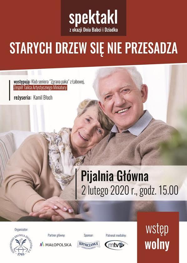 """2 lutego, Krynica – Zdrój: Spektakl """"Starych drzew się nie przesadza"""""""