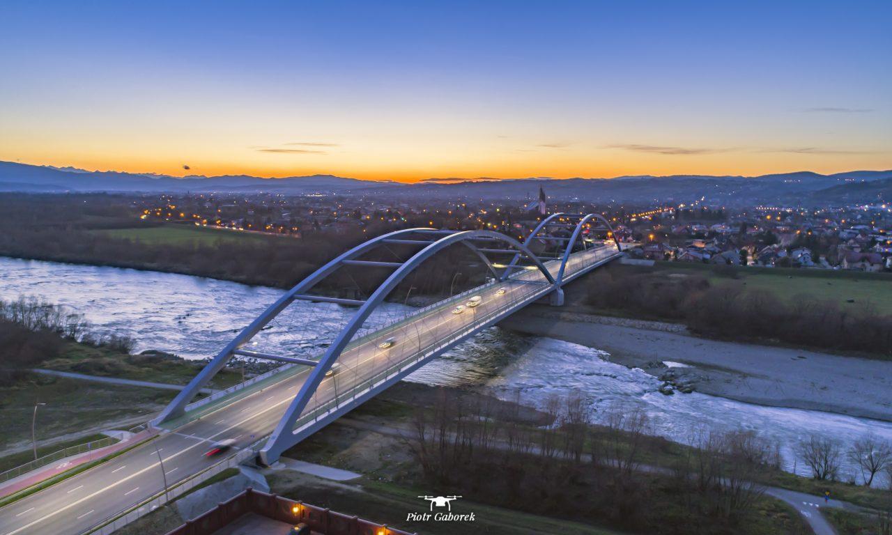 Most Heleński z lotu ptaka