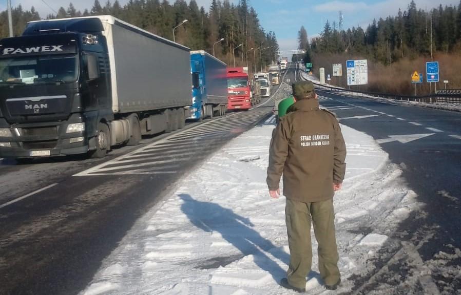 Protest kierowców ciężarówek