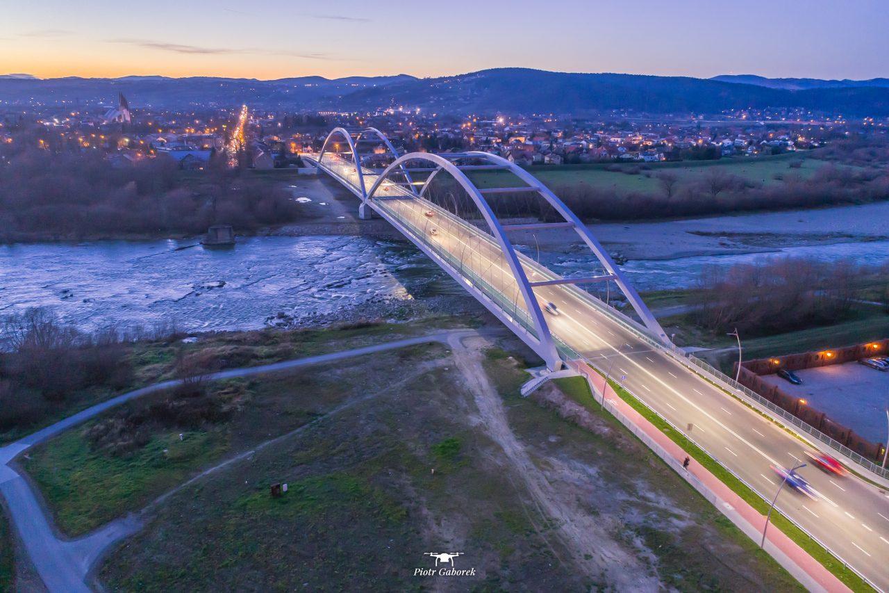 Most Heleński, widok z góry