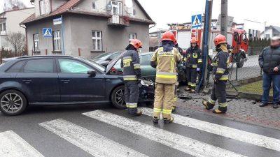 rozbite auta na ul. Paderewskiego