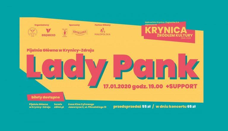 Krynica Źródłem Kultury: W piątek Lady Pank. Kto chce bilety?