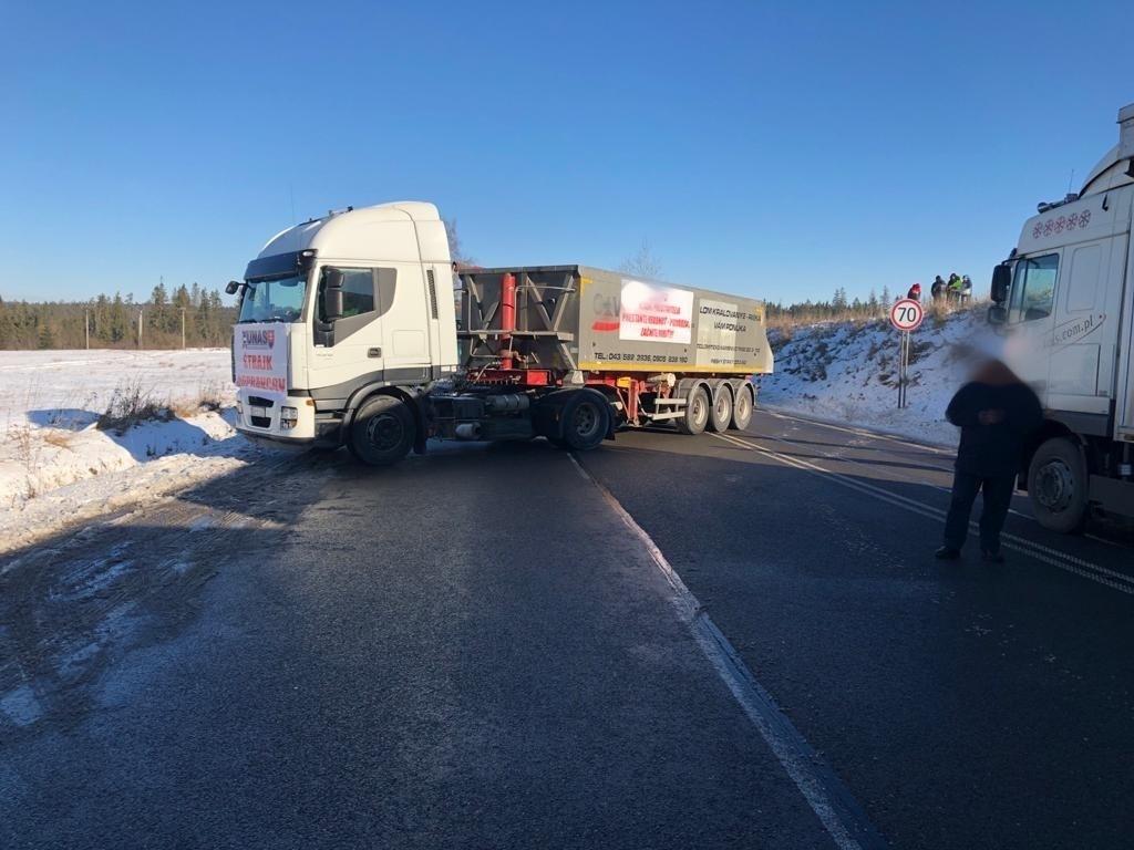 Blokada drogi na Słowacji