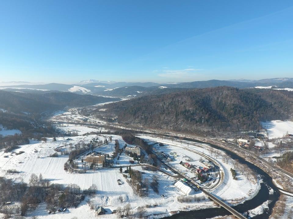 Dolina Popradu, zima, Tatry