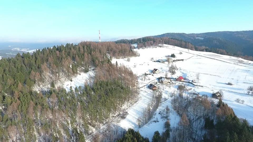 Muszyna z drona, zima