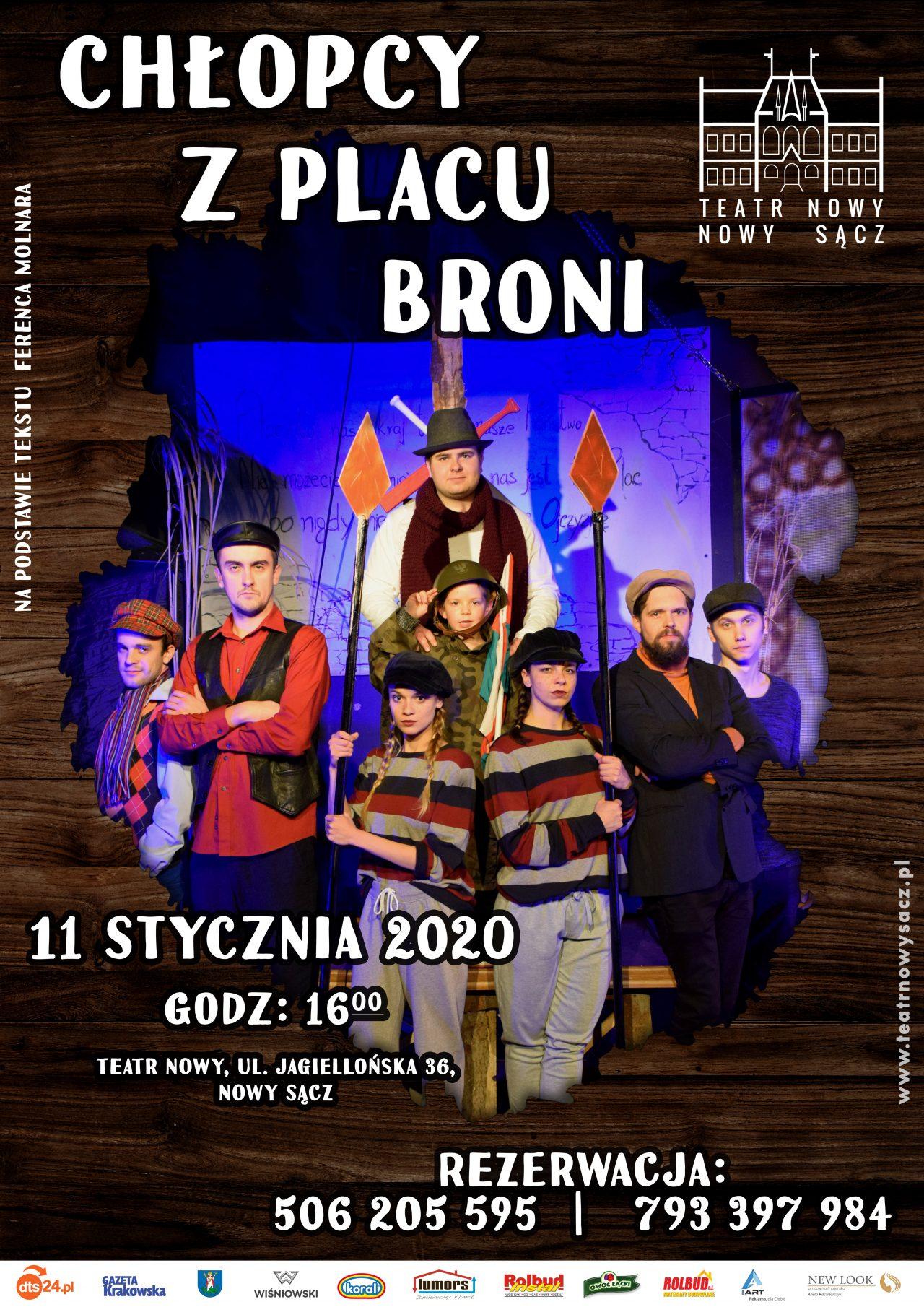 Chłopcy z Placu Broni, spektakl, plakat