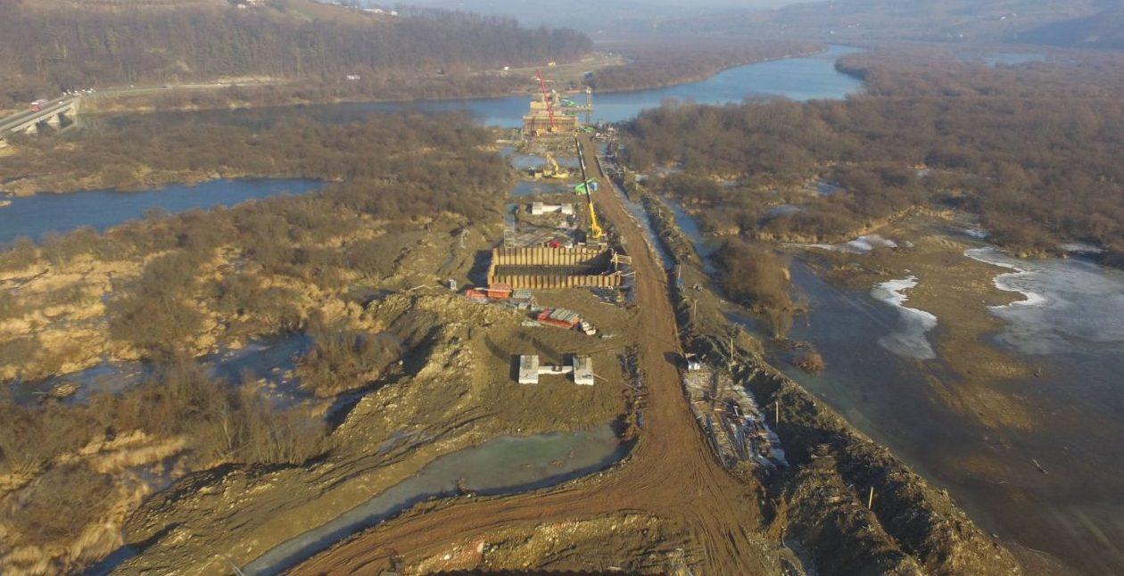 Budowa mostu w Kurowie, DK 75