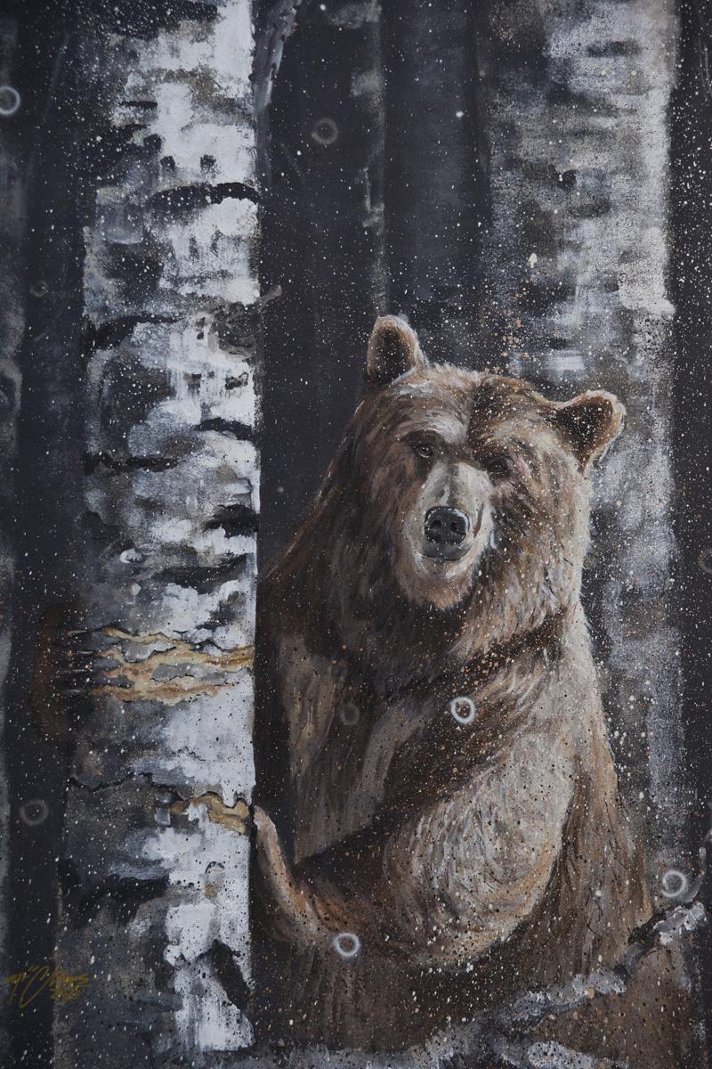 mural z niedźwiedziem