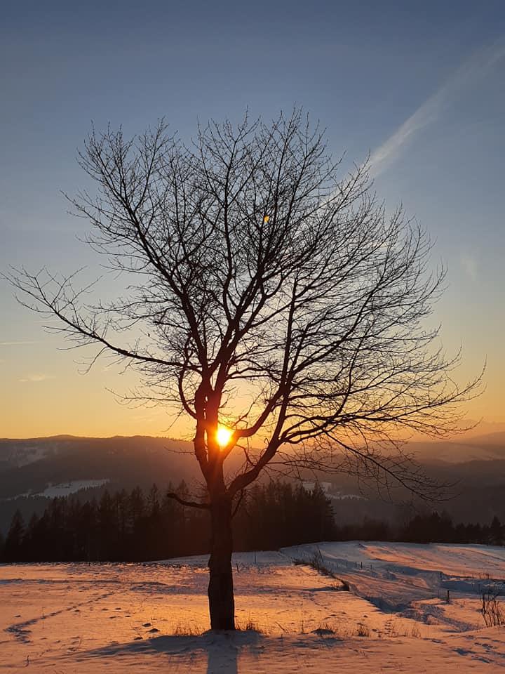 Zachód słońca z Malnika