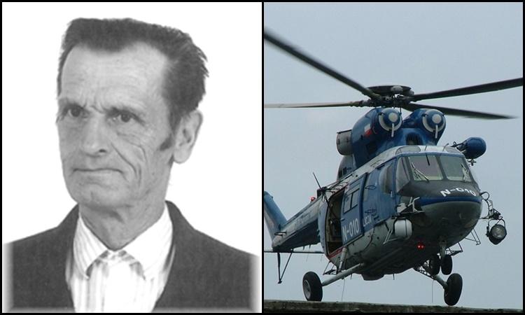 Do akcji poszukiwawczej 83-letniego Józefa Radziaka włączono śmigłowiec policyjny
