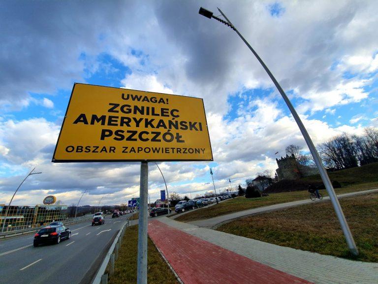"""Obszar zapowietrzony! – ostrzega tablica przy nowosądeckim moście """"heleńskim"""""""