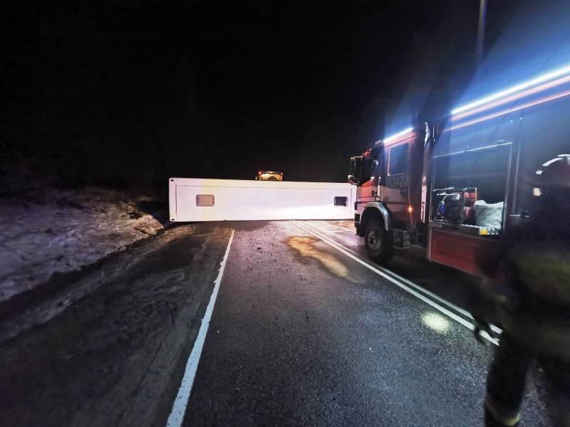 wypadek Krynica, przewrócony autobus