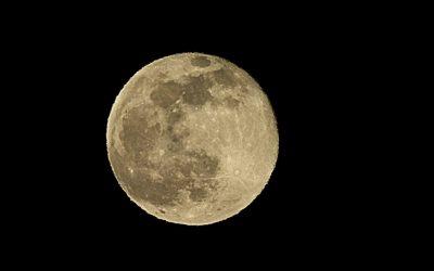Księżyc w pełni, 9 lutego 2020, Śnieżny Księżyc