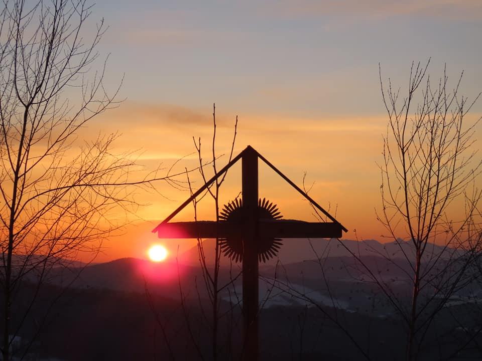 Muszyna, zachód słońca