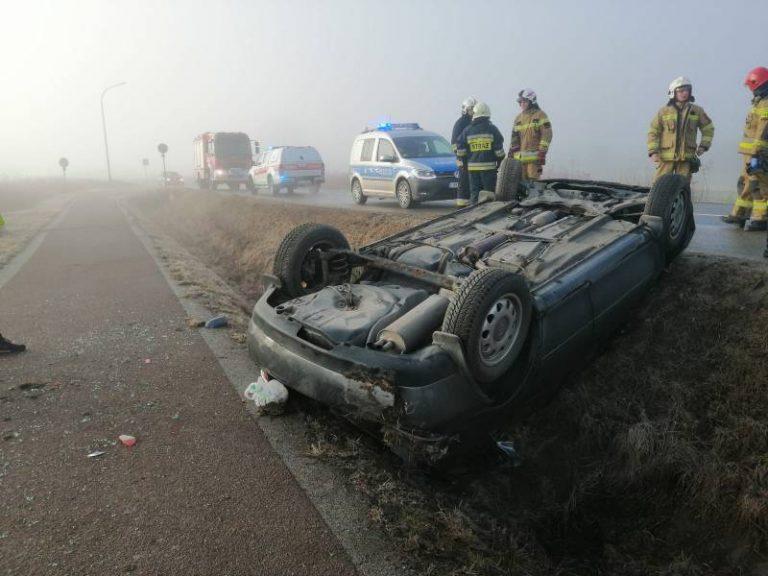 Stary Sącz, Wielki Wygon: Audi skończyło podróż na dachu…