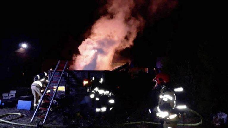 Chełmiec: płonęła naczepa samochodu ciężarowego