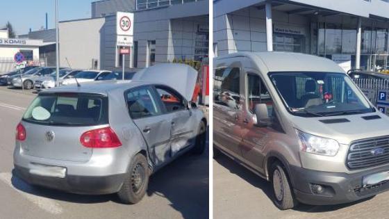 Nowy Sącz: zderzenie dwóch samochodów