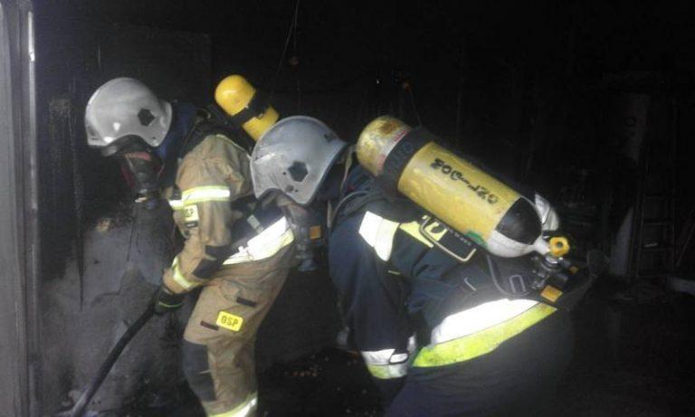 Koniuszowa: w garażu budynku jednorodzinnego wybuchł pożar