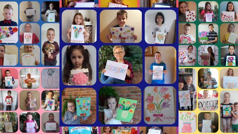 Dzieciaki z Wojnarowej dziękują współczesnym Prometeuszom