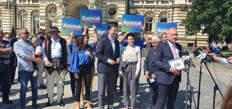 Władysław Kosiniak- Kamysz odwiedził Nowy Sącz. Przekonywał do siebie wyborców i rozmawiał z prezydentem Handzlem